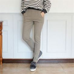 Styleberry - Brushed-Fleece Lined Baggy-Fit Pants