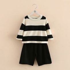 Seashells Kids - Kids Set: Striped Sweater + Wide Leg Pants