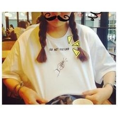Kikiyo - Short-Sleeve Embroidered T-Shirt