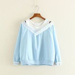 Mushi - Mock Two-Piece Pullover