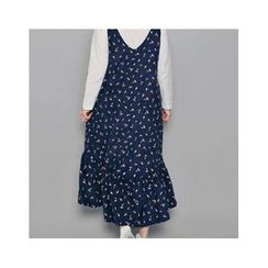 HOTPING - Spaghetti-Strap Pattern Dress
