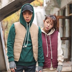 Superstar.i - Couple Snap-Button Padded Vest