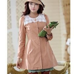 JVL - Lace-Panel Trench Coat