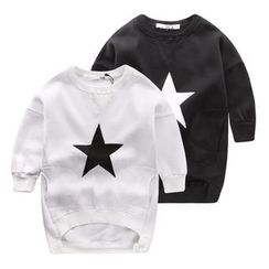 lalalove - Kids Star Fleece-lined Sweatshirt