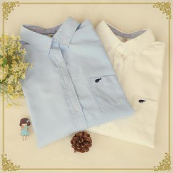 Fairyland - Embroidered Long-Sleeved Oxford Shirt