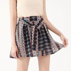 Tokyo Fashion - Tie-Waist Printed Culottes
