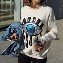 Seoul Fashion - Round-Neck sequined T-Shirt