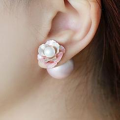 maxine - 花形细节双面耳环