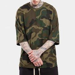 TNMK - Elbow-Sleeve Camouflage T-Shirt