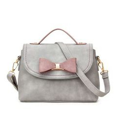 LineShow - Bow Flap Crossbody Bag