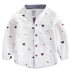 DEARIE - Kids Printed Stand-Collar Shirt