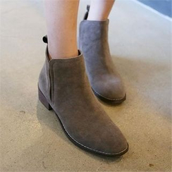 QNIGIRLS - Faux-Suede Ankle Boots
