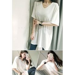 ATTYSTORY - Round-Neck Long T-Shirt