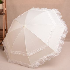 Easily - Lace Trim Compact Umbrella