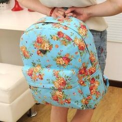 TAIPEI STAR - Canvas Floral Backpack