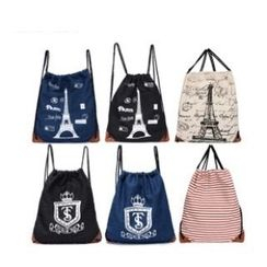 LISEN - Printed Nylon Drawstring Backpack