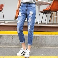 Leewiart - Distressed Jeans