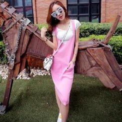 Tang House - V-Neck Knit Jumper Skirt
