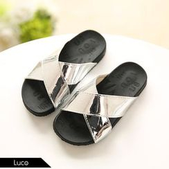 Luco - Kids Metallic Slide Sandals