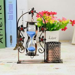 Cloud Forest - Hourglass with Pen Holder