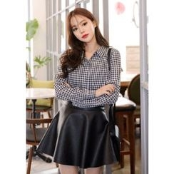 DEEPNY - Long-Sleeve Gingham Shirt