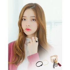 soo n soo - Set of 3: Tassel-Charm Ring +  2 Rings