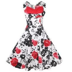 Forest Of Darama - Floral Print Sleeveless Dress