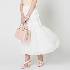 O.SA - Frilled-Trim Maxi Skirt