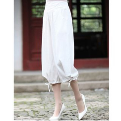 Venesia - Plain Cropped Harem Pants