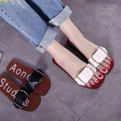 Anran - Buckled Slide Sandals