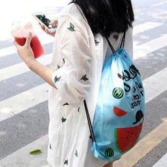 Cute Essentials - Fruit Print Drawstring Backpack