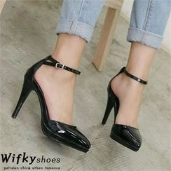Wifky - Pointy-Toe Ankle-Strap Pumps
