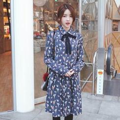 mimi&didi - Pattern Midi Dress with Sash