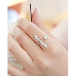 Miss21 Korea - Rhinestone Open Ring