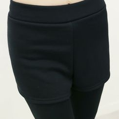 DANI LOVE - Inset Shorts Fleece-Lined Leggings