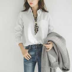 JUSTONE - Pocket-Front Cotton Shirt