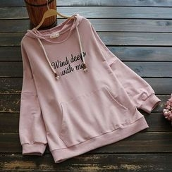 YOYO - Long-Sleeve Hooded Embroidered Top
