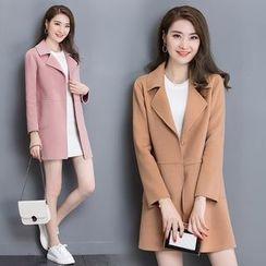 Purple Rose - Buttoned Coat