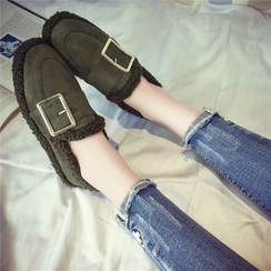 QQ Trend - Buckled Snow Slip-Ons