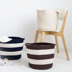 Modern Wife - Striped Cotton Laundry Basket