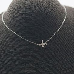 Love Generation - Aeroplane Sterling Silver Necklace