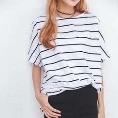 GoFlow - Short-Sleeve Striped T-Shirt