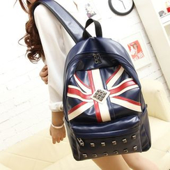 Bagolo - Faux-Leather Flag Backpack