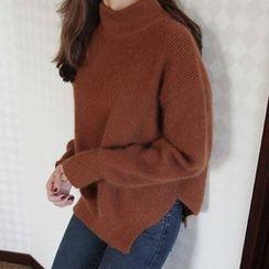 Emeline - Plain Mock Neck Sweater