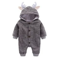 Madou - Antler-Accent Hooded One-Piece