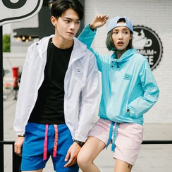 Evolu Fashion - Couple Matching Hooded Windbreaker