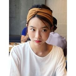 FROMBEGINNING - Knotted Fabric Elastic Hair Band