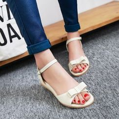Pastel Pairs - Bow Ankle Strap Sandals