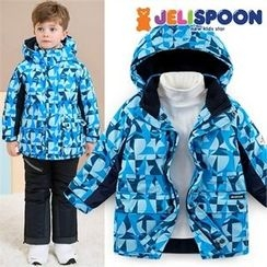 JELISPOON - Boys Patterned Ski Coat
