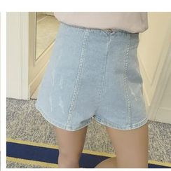 HazyDazy - High Waist Denim Shorts